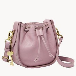 🌼 NWT Fossil light purple leather bag